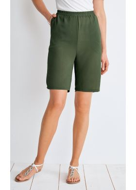 Flowing Bermuda shorts with elasticated waistband - AFIBEL