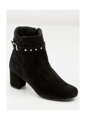 Suede leather zip ankle boots - AFIBEL