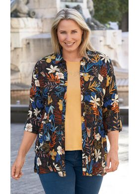 Button-through print tunic - AFIBEL