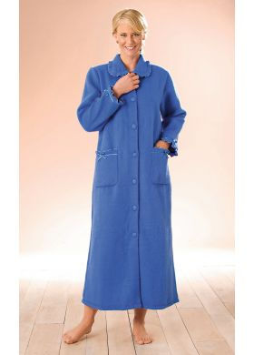 Dressing gown with a Peter Pan collar - AFIBEL