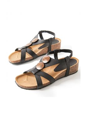 Sandals with wood effect details - AFIBEL