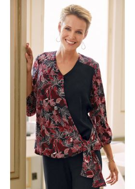 Women's tunic with crossover neckline. - AFIBEL