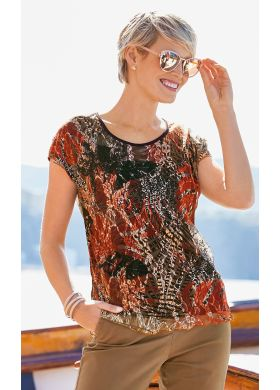 Tunic with a lace print - AFIBEL