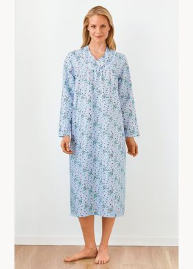 Floral nightdress with lace detailing - AFIBEL