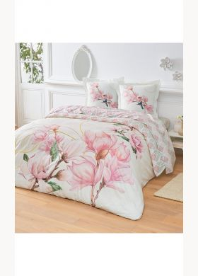 Fitted sheet with a springtime print - AFIBEL