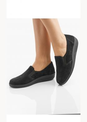 Velour moccasins with removable sock - AFIBEL