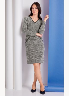 Dress in a marled knit fabric - AFIBEL