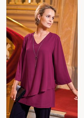 Women's frill tunic with decorative jewel detail - AFIBEL