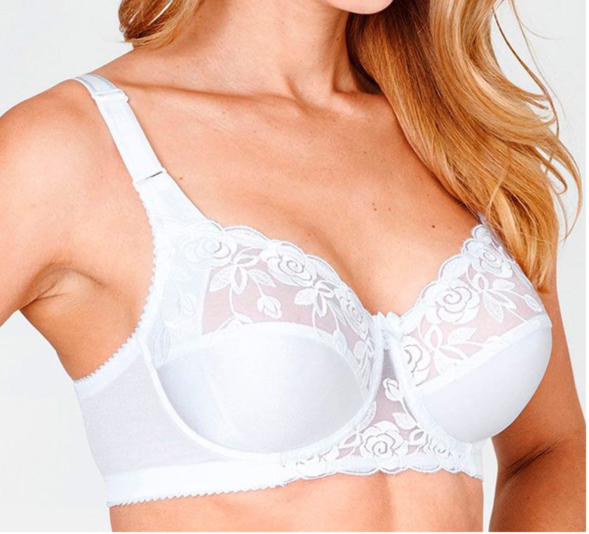 Embroidered bra